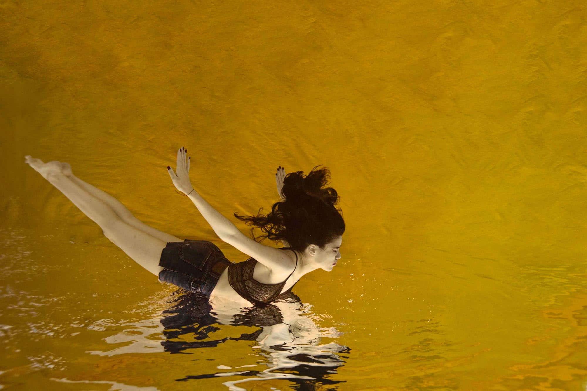 seance photo sous l'eau alison bounce