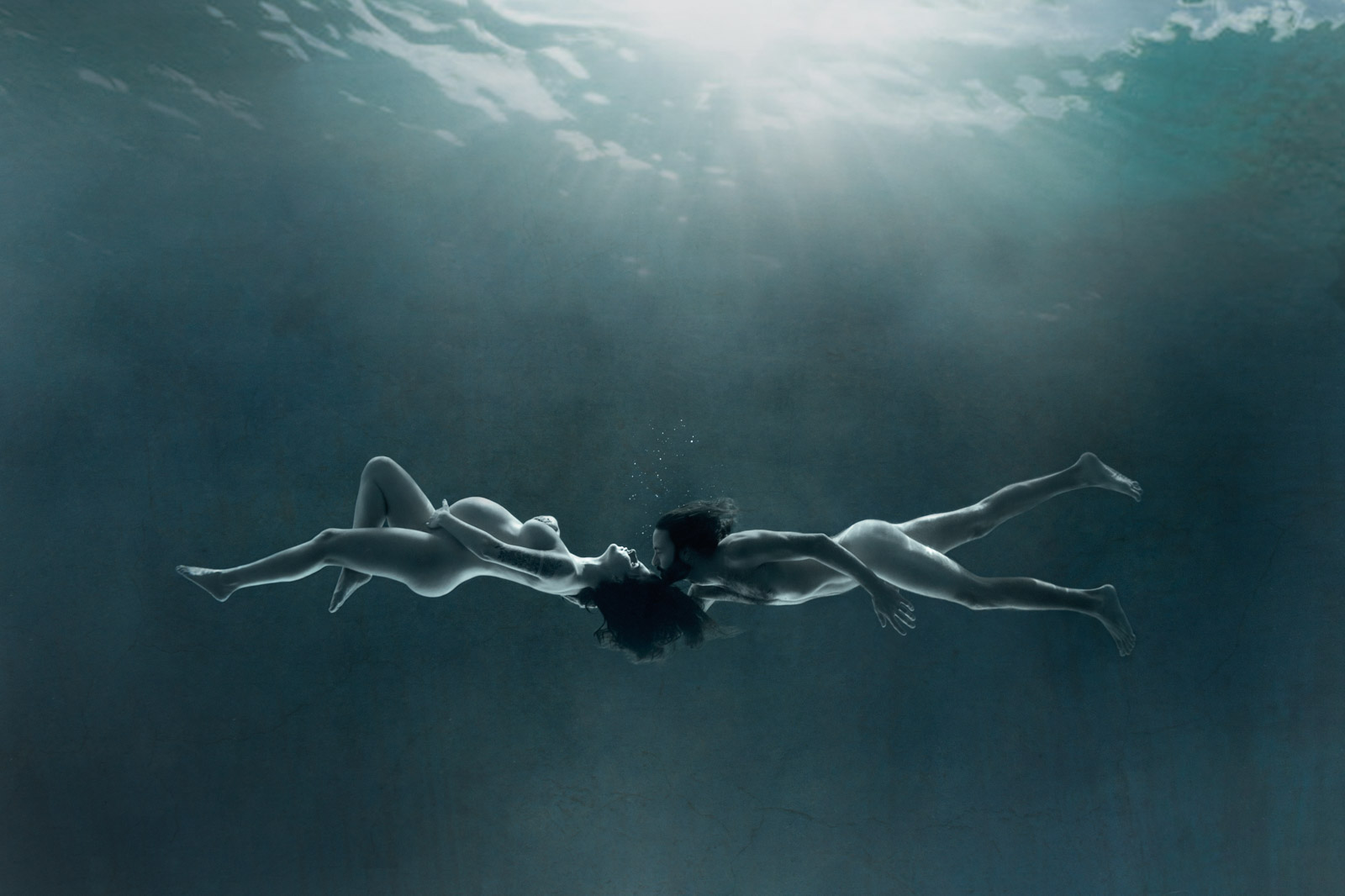 photo grossesse underwater